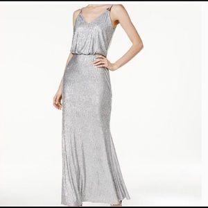 Calvin Klein Silver Gown